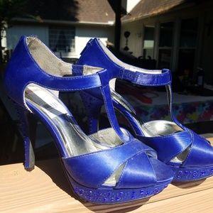 Style & Co. cobalt blue dress heels. Size 6.5